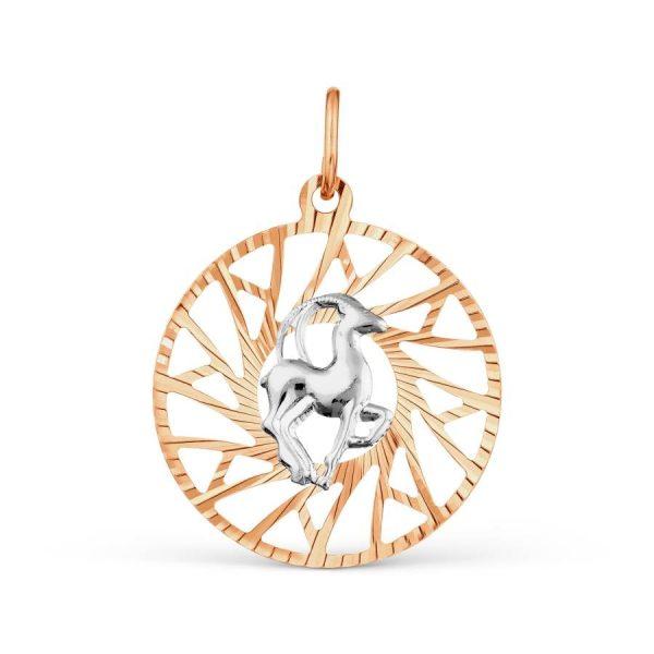 Знак зодиака из золота