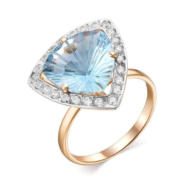 Кольцо из золота возможные камни (лондон топаз)