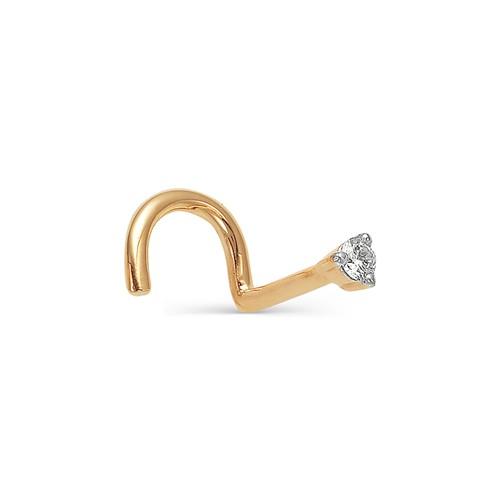 Пирсинг для носа из золота