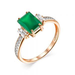 Кольцо из золота возможные камни (аметист, гранат, оникс зеленый, топаз, хризолит)