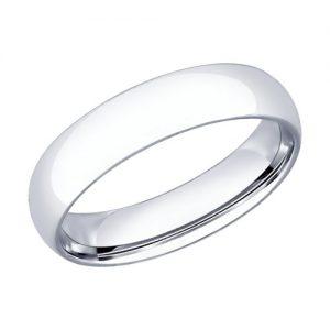 Кольцо обручальное из серебра