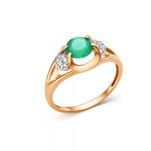 Кольцо из золота возможные камни (оникс зеленый, раух топаз,топаз, корунд рубин, корунд сапфир)
