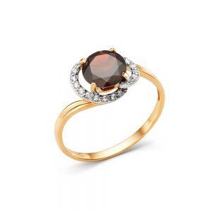 Кольцо из золота возможные камни (оникс зеленый, лондон топаз)