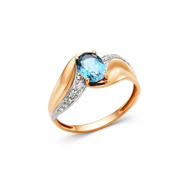 Кольцо из золота возможные камни (лондон топаз, топаз)