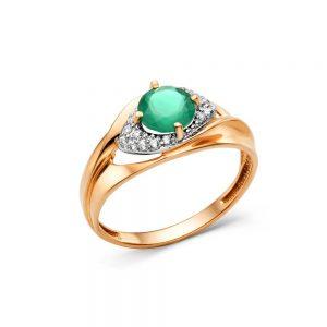 Кольцо из золота возможные камни (оникс зеленый, топаз)